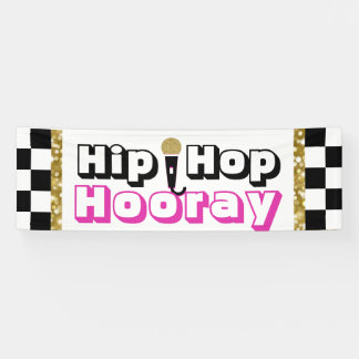 Hip Hop Hooray {Girl} Baby Shower Banner