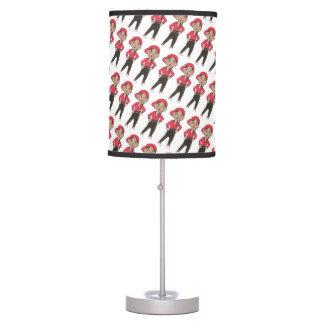Hip Hop Jazz Dance Studio Decor Red Black Table Lamp