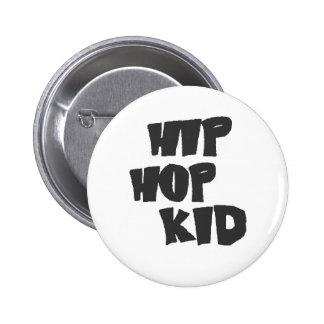 Hip hop kid pinback buttons