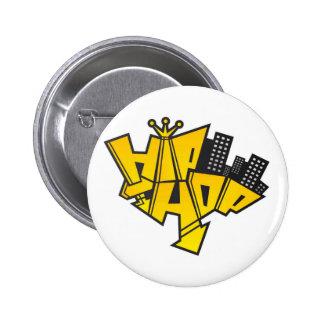 Hip-hop logo 2 inch round button