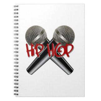 Hip Hop - mc rap dj rap turntable mic graffiti r&b Spiral Notebooks