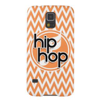 Hip Hop; Orange and White Chevron Galaxy S5 Case