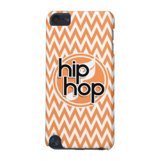 Hip Hop; Orange and White Chevron iPod Touch (5th Generation) Cases