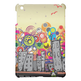 Hip Hop Penguin in the City Cover For The iPad Mini