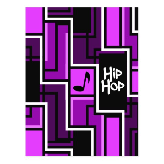Hip Hop postcard, customizable Postcard