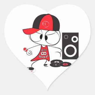 Hip hop rapper doll heart sticker