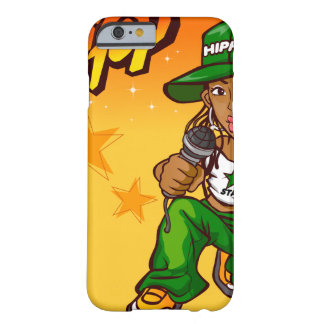 hip hop rapper girl green orange cartoon barely there iPhone 6 case