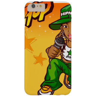 hip hop rapper girl green orange cartoon barely there iPhone 6 plus case