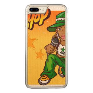 hip hop rapper girl green orange cartoon carved iPhone 7 plus case