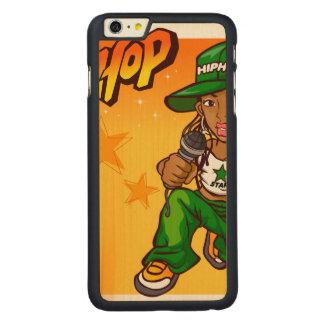 hip hop rapper girl green orange cartoon carved® maple iPhone 6 plus case