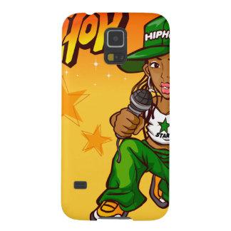 hip hop rapper girl green orange cartoon case for galaxy s5