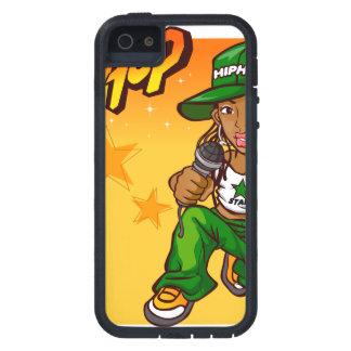 hip hop rapper girl green orange cartoon iPhone 5 cases