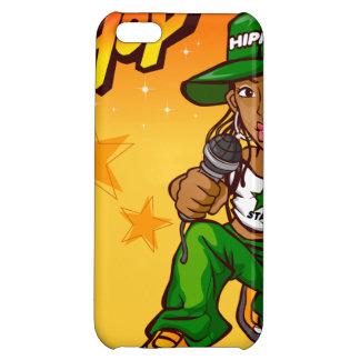 hip hop rapper girl green orange cartoon iPhone 5C covers