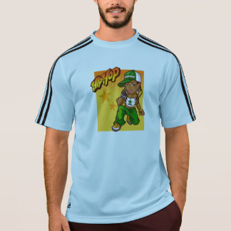 hip hop rapper girl green orange cartoon T-Shirt