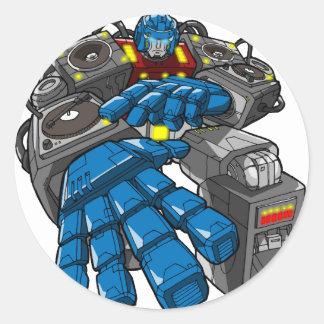 Hip Hop Robot Classic Round Sticker