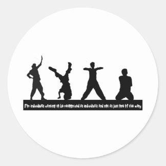 Hip Hop Round Sticker