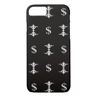 Hip Hop Silver Dollar Bling Royal iPhone 8/7 Case