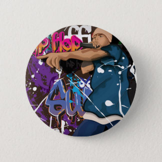 hip hop singer 2 inch round button