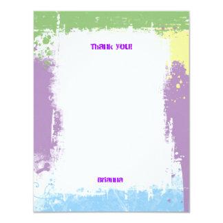 Hip Hop Sweet Pastel Grunge Thank You Note Card