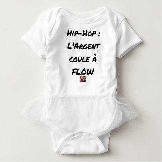 HIP-HOP: The MONEY RUNS With FLOW - Word games Baby Bodysuit