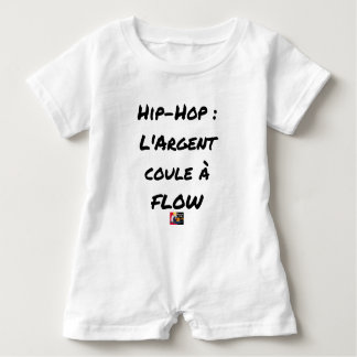 HIP-HOP: The MONEY RUNS With FLOW - Word games Baby Romper