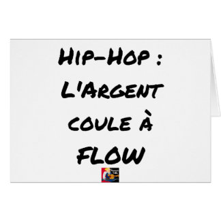 HIP-HOP: The MONEY RUNS With FLOW - Word games Card
