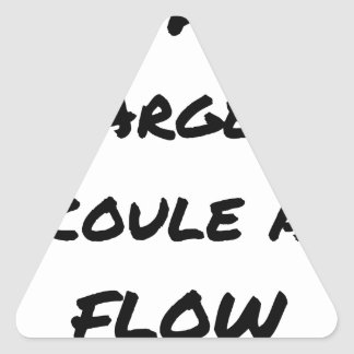 HIP-HOP: The MONEY RUNS With FLOW - Word games Triangle Sticker