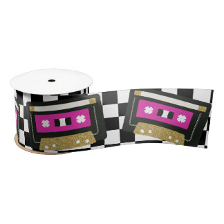 Hip Hop Throwback Baby Shower Mixtape Ribbon Satin Ribbon