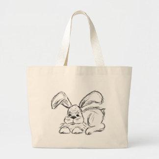 Hip hop, un lapin grand tote bag