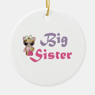Hip Kitty Big Sister 5 Ceramic Ornament