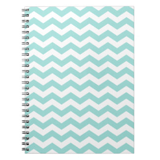 Hip Light Aqua Chevron Notebook