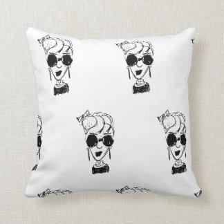 Hip Lil Lady Throw Pillow