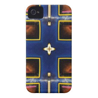 Hip Masculine Blue Geometric Pattern iPhone 4 Cases