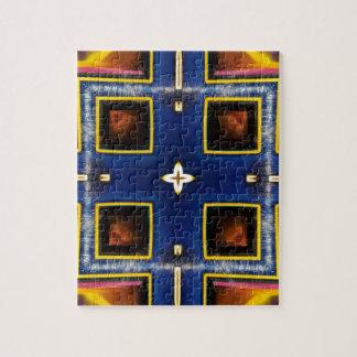 Hip Masculine Blue Geometric Pattern Puzzle