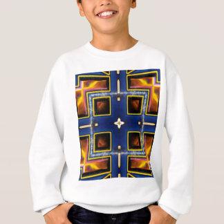 Hip Masculine Blue Geometric Pattern Sweatshirt