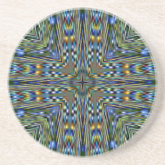 Hip modern Artistic Feathery Pattern Coaster