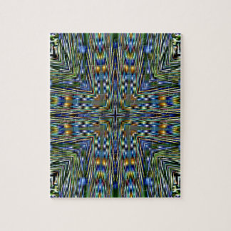 Hip modern Artistic Feathery Pattern Jigsaw Puzzle