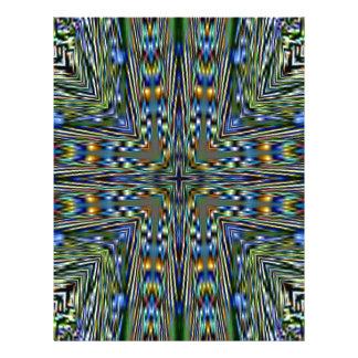 Hip modern Artistic Feathery Pattern Letterhead