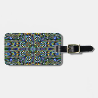 Hip modern Artistic Feathery Pattern Luggage Tag