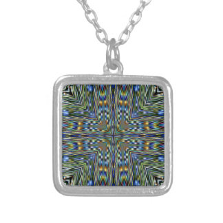 Hip modern Artistic Feathery Pattern Silver Plated Necklace