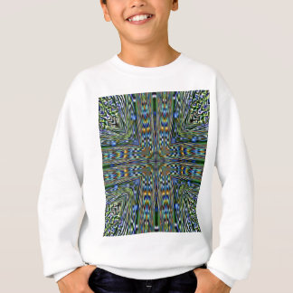 Hip modern Artistic Feathery Pattern Sweatshirt
