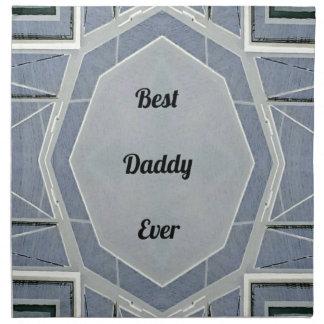 """Hip Modern Gray """"Best Daddy Ever"""" Napkin"""