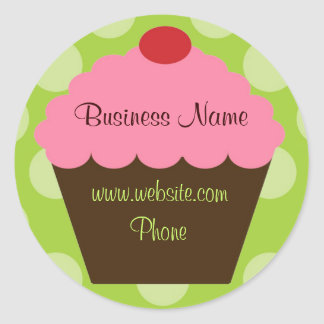 Hip Retro Cupcake Sticker