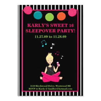 "HIP RETRO MODERN Sassy Girl Birthday 5"" X 7"" Invitation Card"