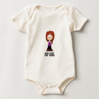 hip shy girl baby bodysuit
