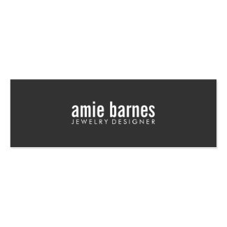 Hip Simple and Bold  Modern Minimalist Black Pack Of Skinny Business Cards