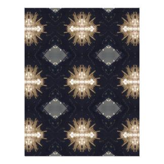 Hip Tan Gray Black Modern Pattern Letterhead