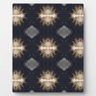 Hip Tan Gray Black Modern Pattern Plaque