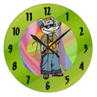 Hip Teenage Mouse Wall Clock