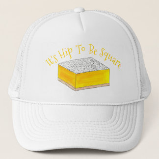 Hip To Be (Lemon) Square Bar Foodie Dessert Yellow Trucker Hat